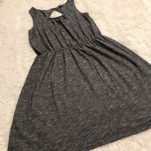 LOFT Heathered Gray Lightweight Sleeveless Dress